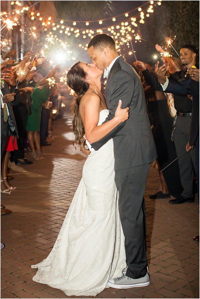 701 Whaley wedding photos wedding reception photos sparkler exit