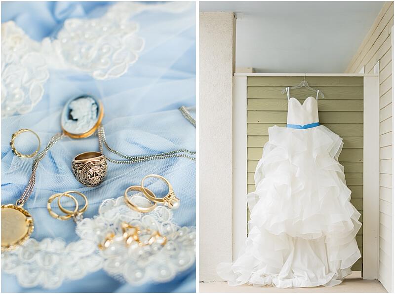 LGBTQ+ Citadel Beach Club Wedding Dress and Jewelry