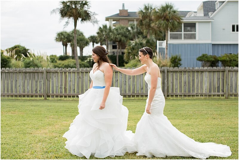 LGBTQ+ Citadel Beach Club Wedding First Look