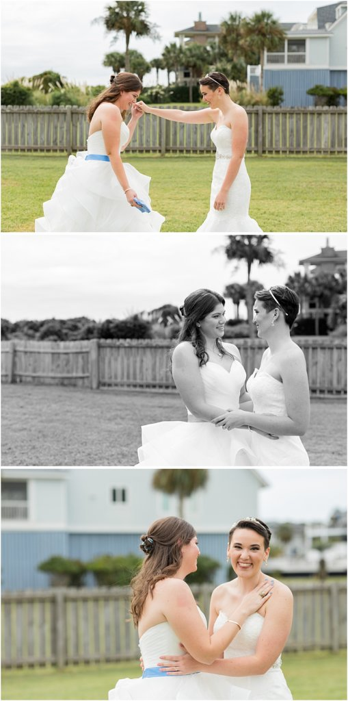LGBTQ+ Citadel Beach Club Wedding Couple First Look Reveal