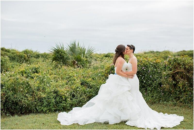 LGBTQ+ Citadel Beach Club Wedding Couple Portraits