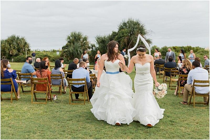 LGBTQ+ Citadel Beach Club Wedding ceremony