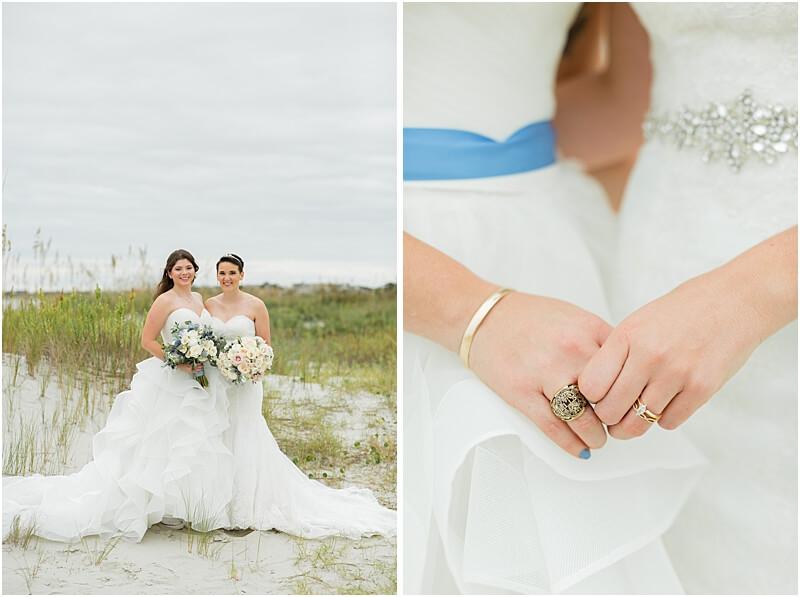 LGBTQ+ Citadel Beach Club Couple Just Married Portraits