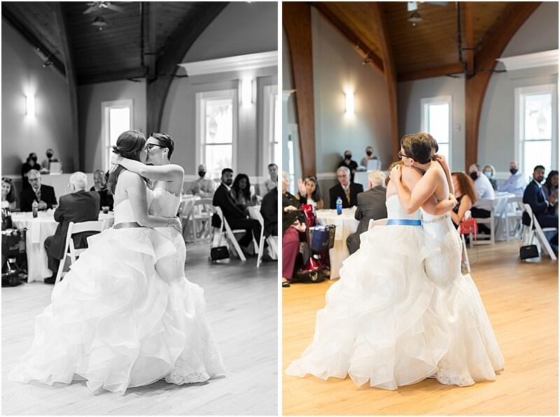 LGBTQ+ Citadel Beach Club Couple have their first dance at reception