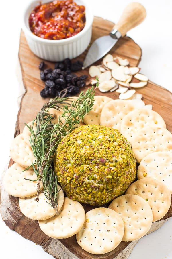 This Pistachio Crusted Cheese Ball is easy to make and tastes incredible that is perfect for any party appetizer or snack.
