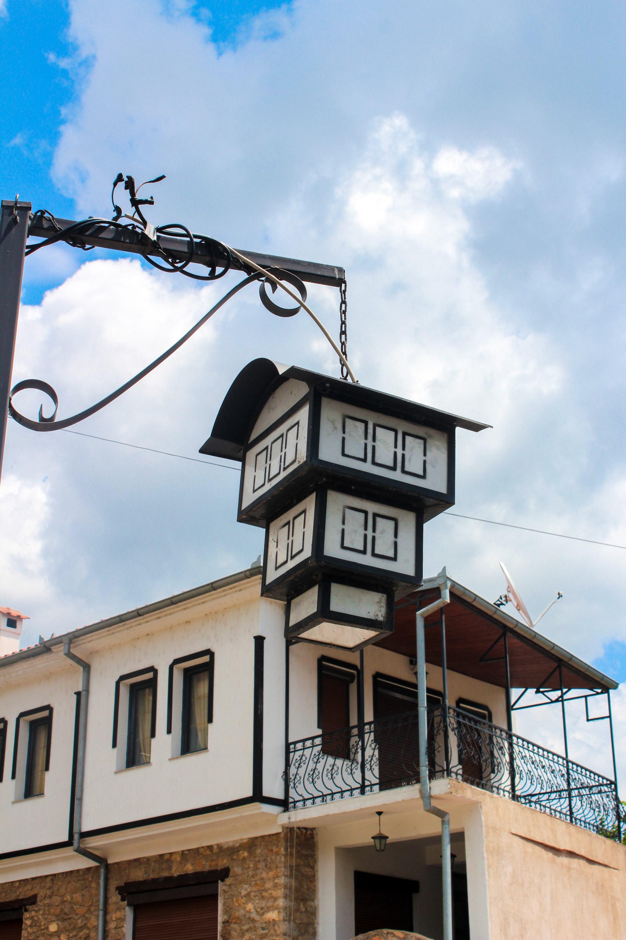 Streetlamps-Lake-Ohrid-Macedonia