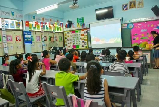 Teaching preschool in Thailand