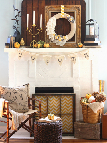 Via Www.countryliving.com This A Great Option If Youu0027re Not Into The  Traditional Halloween Colors, Keeping It Simple With Neutral Decor.