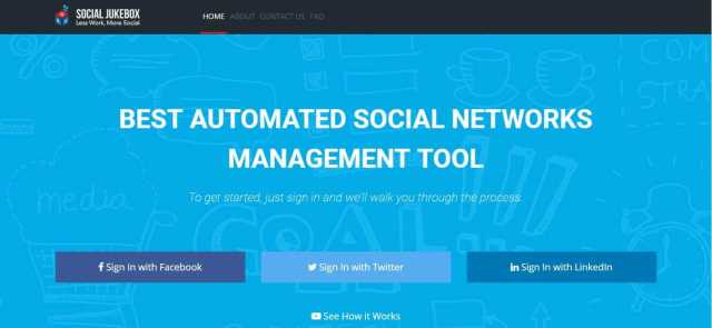 Social JukeBox Review – Twitter, LinkedIn and Facebook Page Auto-posting