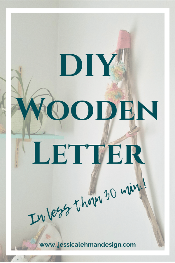 DIY Wooden Letter Pinterest graphic