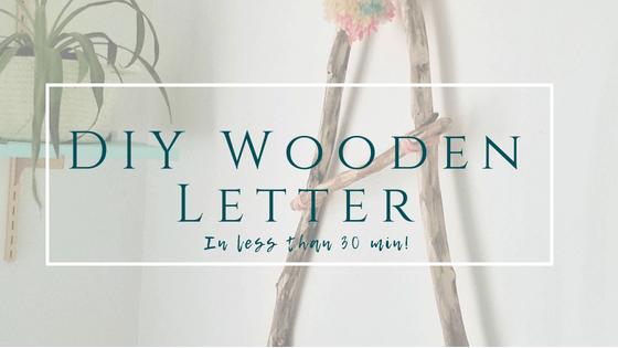 DIY Wooden Letter title