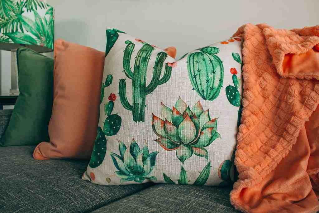 Add boho style to your home by adding pillows