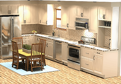 Rendering portfolio-DG kitchen 2