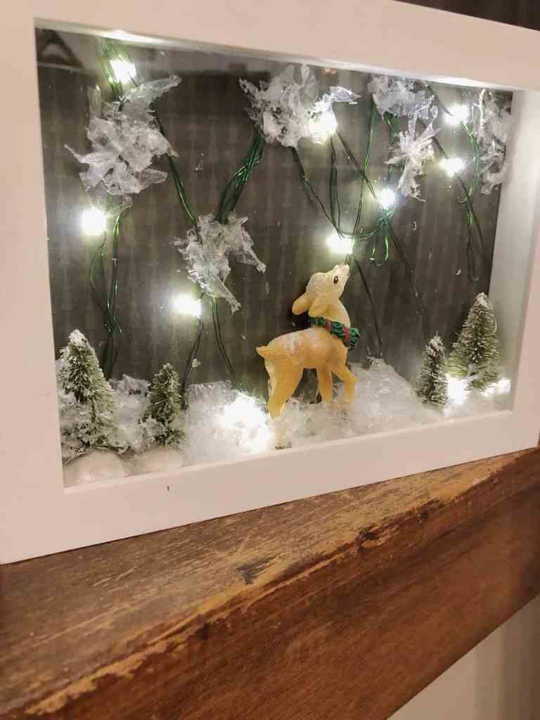 DIY Christmas Gift Christmas Shadow box-renovatingmaplesonmanor
