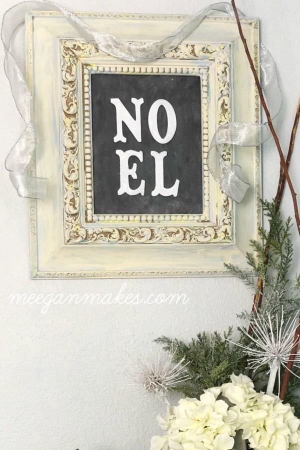 DIY Christmas Gift -NOEL-Christmas-Sign Meegan makes