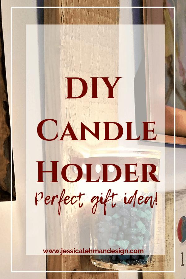 DIY candle holder gift-Pinterest