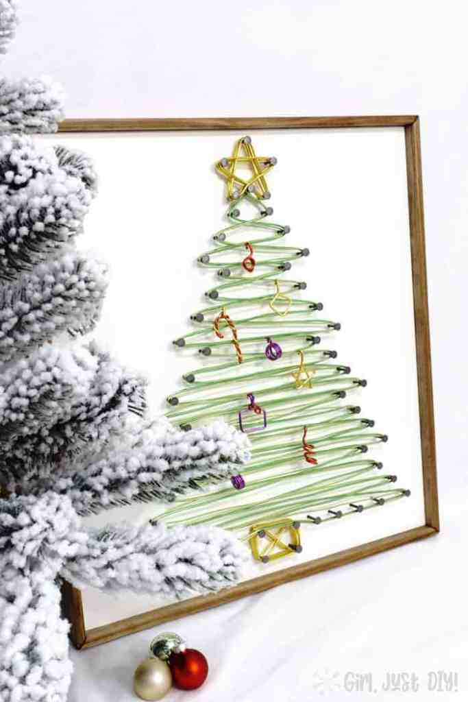Outdoor Christmas decorations Sting-Art-Christmas-Tree--girljust diy