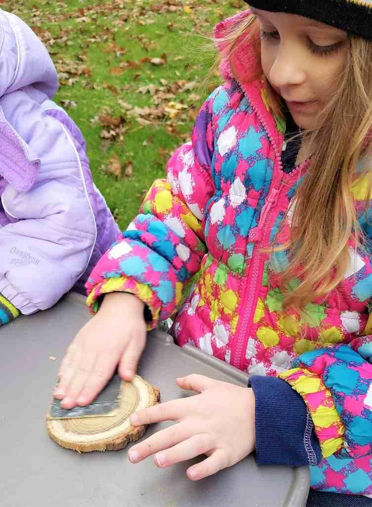 Wooden Christmas Garland little helper