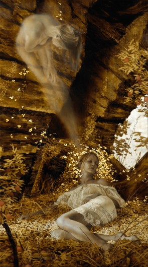 Eidolon, gold and silver leaf, Brad Kunkle