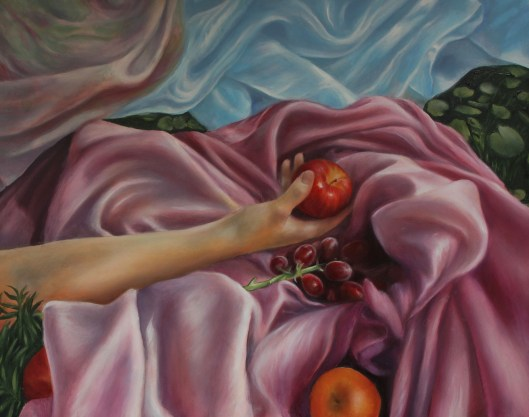 "Picnic, oil on panel, 10""x12"", Jessica Libor 2014"