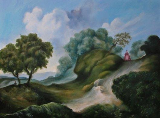 "Midmorning, oil on panel, 10""x12"", Jessica Libor 2014"