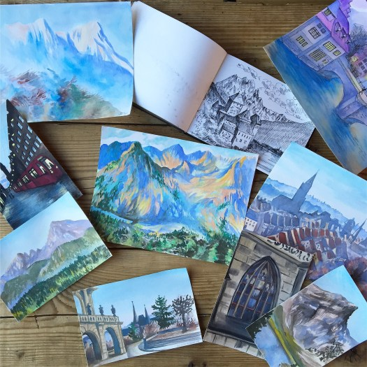 My watercolors done in Switzerland