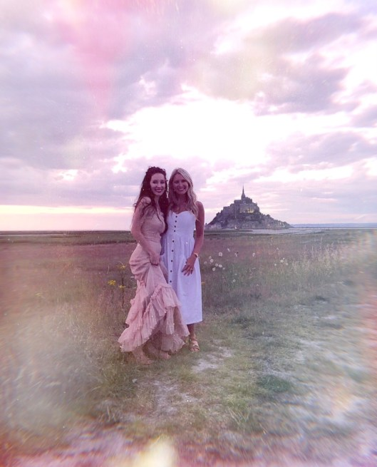 lauren and jess at mont st michel