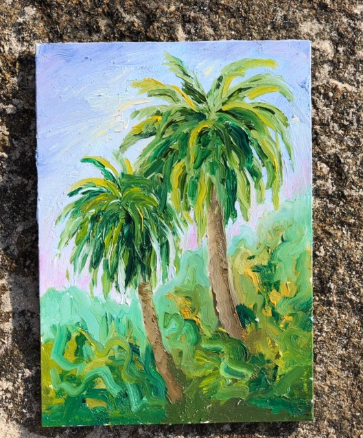 palm tree painting
