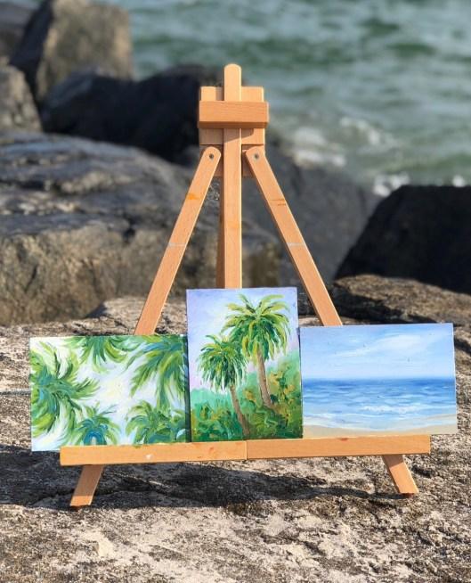 summer trio of paintings