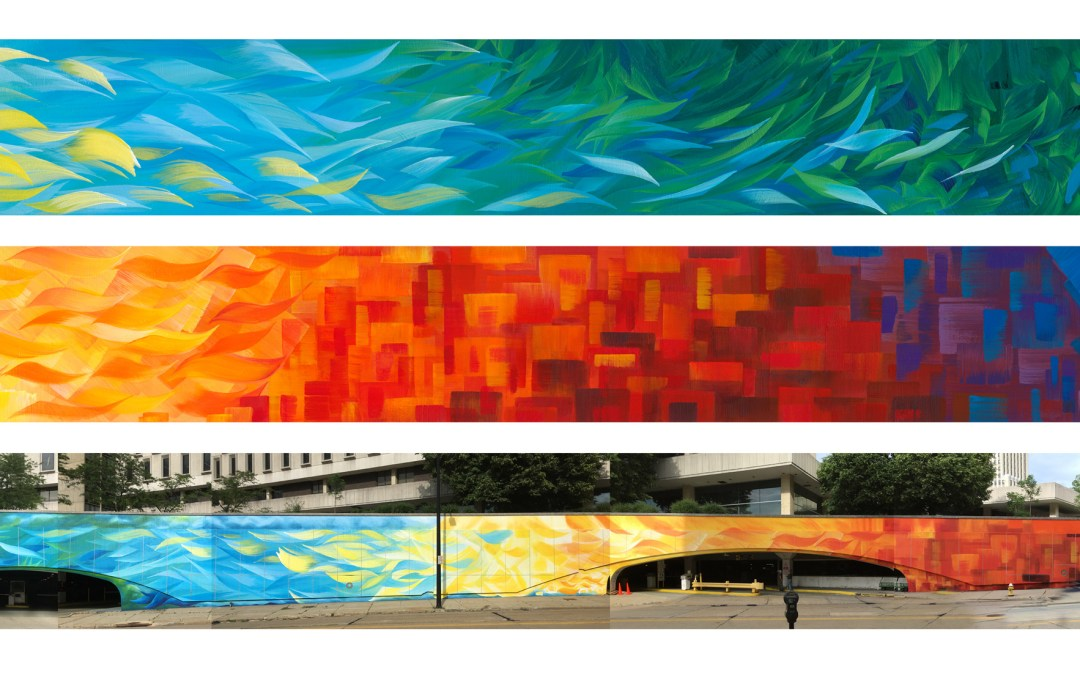 Cascade Plaza Parking Deck Mural