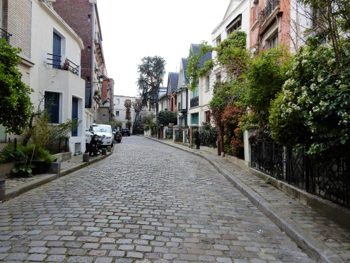 The winding streets of Montmartre