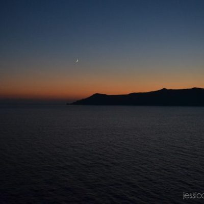 Cruising in Europe: A Santorini Sunset