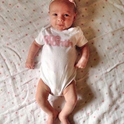 Madilyn Rose (one month)