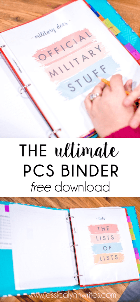 If you have an upcoming military move, or a PCS, get these PCS binder printables to help organize your move and keep you sane in the process.