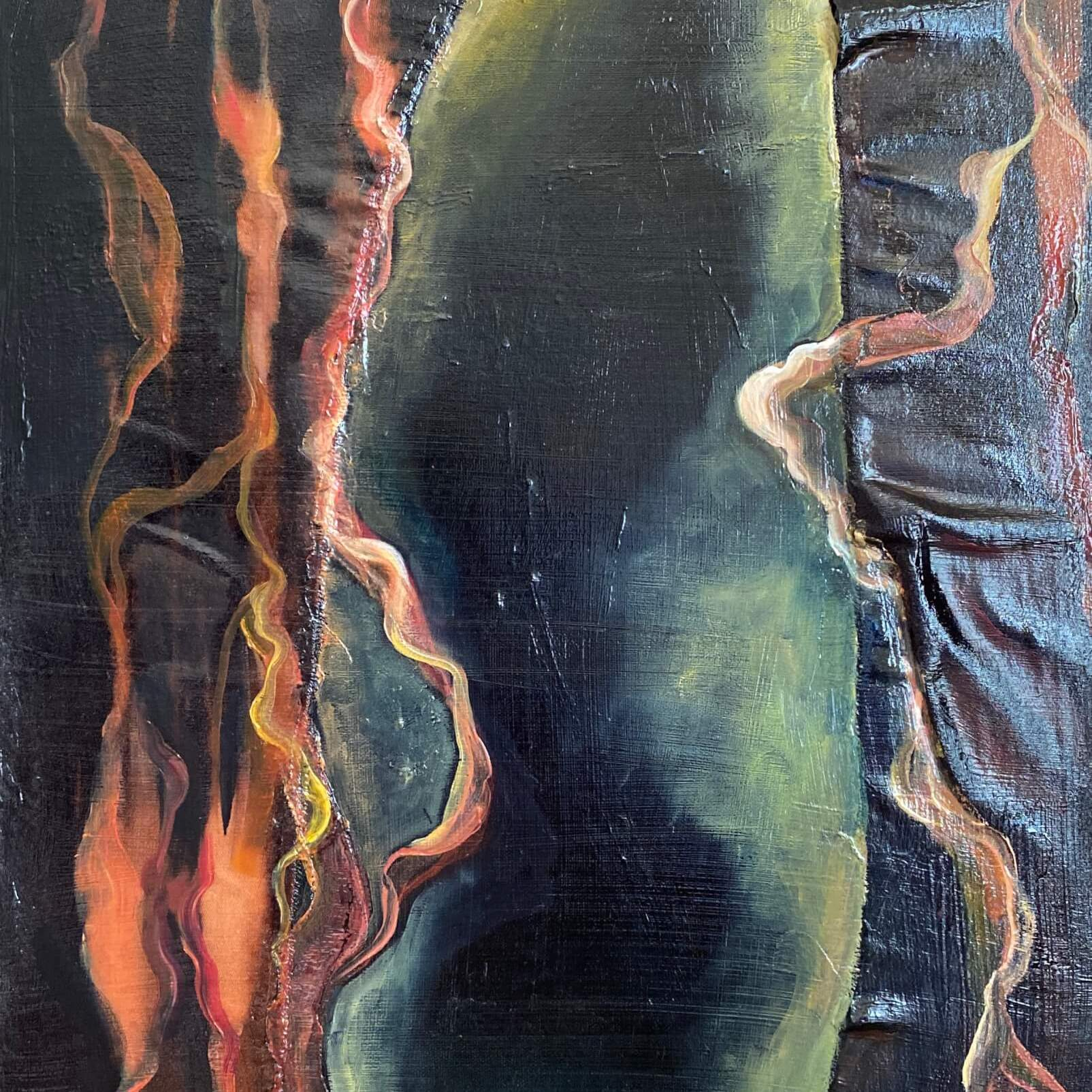 Behind the Curtain - Abstract Painting
