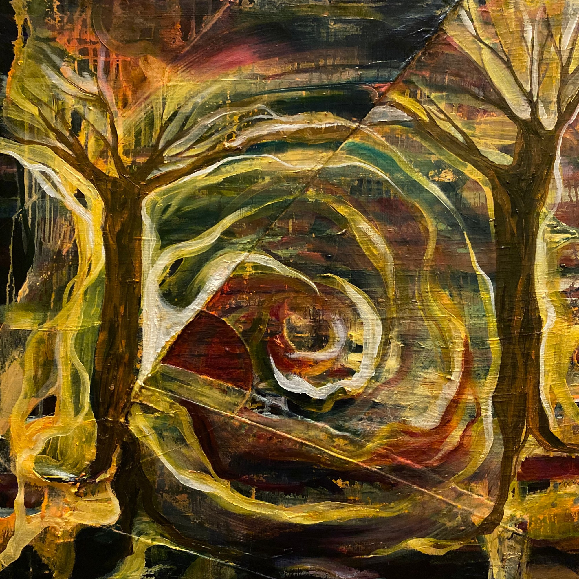 Autumn Sunset - Abstracted landscape painting