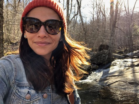 selfie of me along the hiking trail in shenandoah