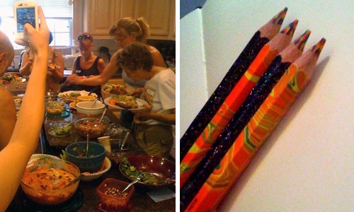 pencils and potluck