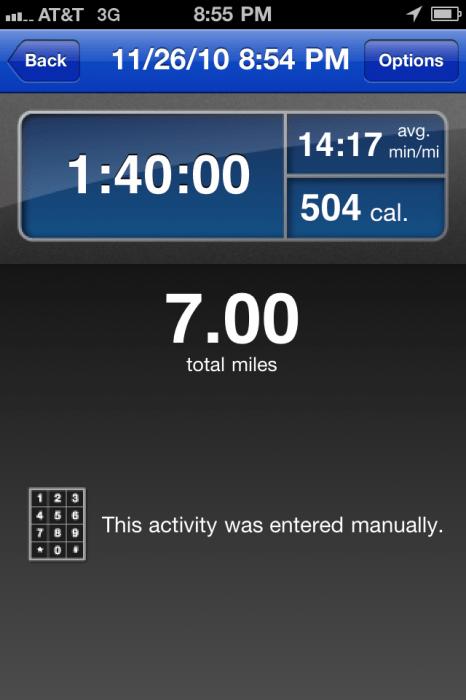 7 miles!