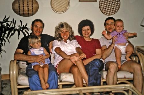 grandma, me, auntie ann, grandma, dad, kerri