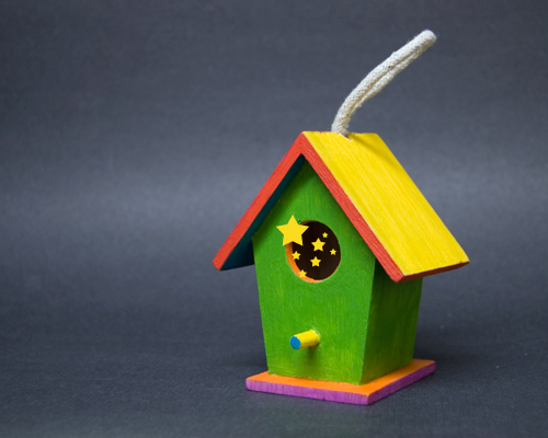 Birdhouse Painted by Kelly Cree