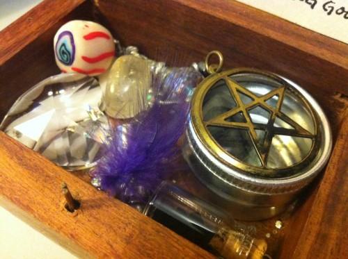 magickal ritual altar