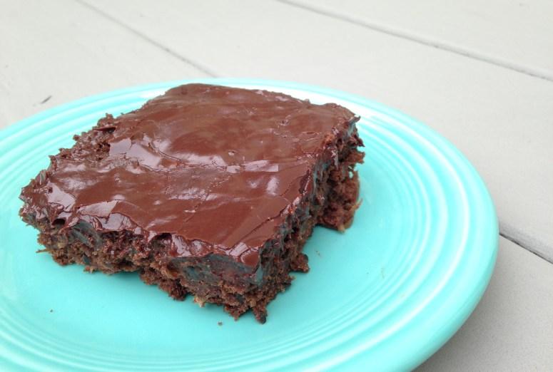Chocolate Zucchini Brownie Cake from JessicaMWhite.com