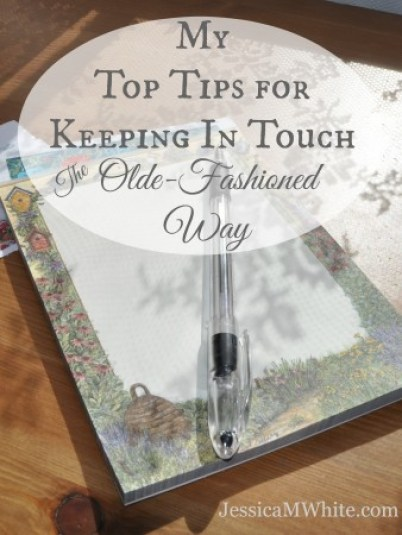 My Top Tips For Keeping In touch the Old Fashion Way From JessicaMWhite.com