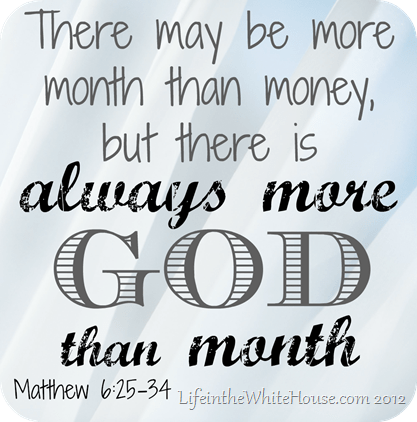 There is ALWAYS more GOD than MONTH @JessicaMWhite.com