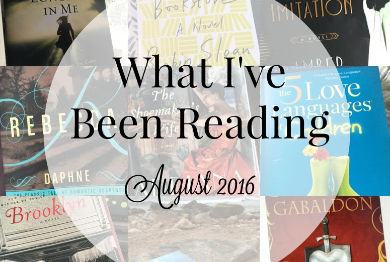 What I've been Reading August 2016