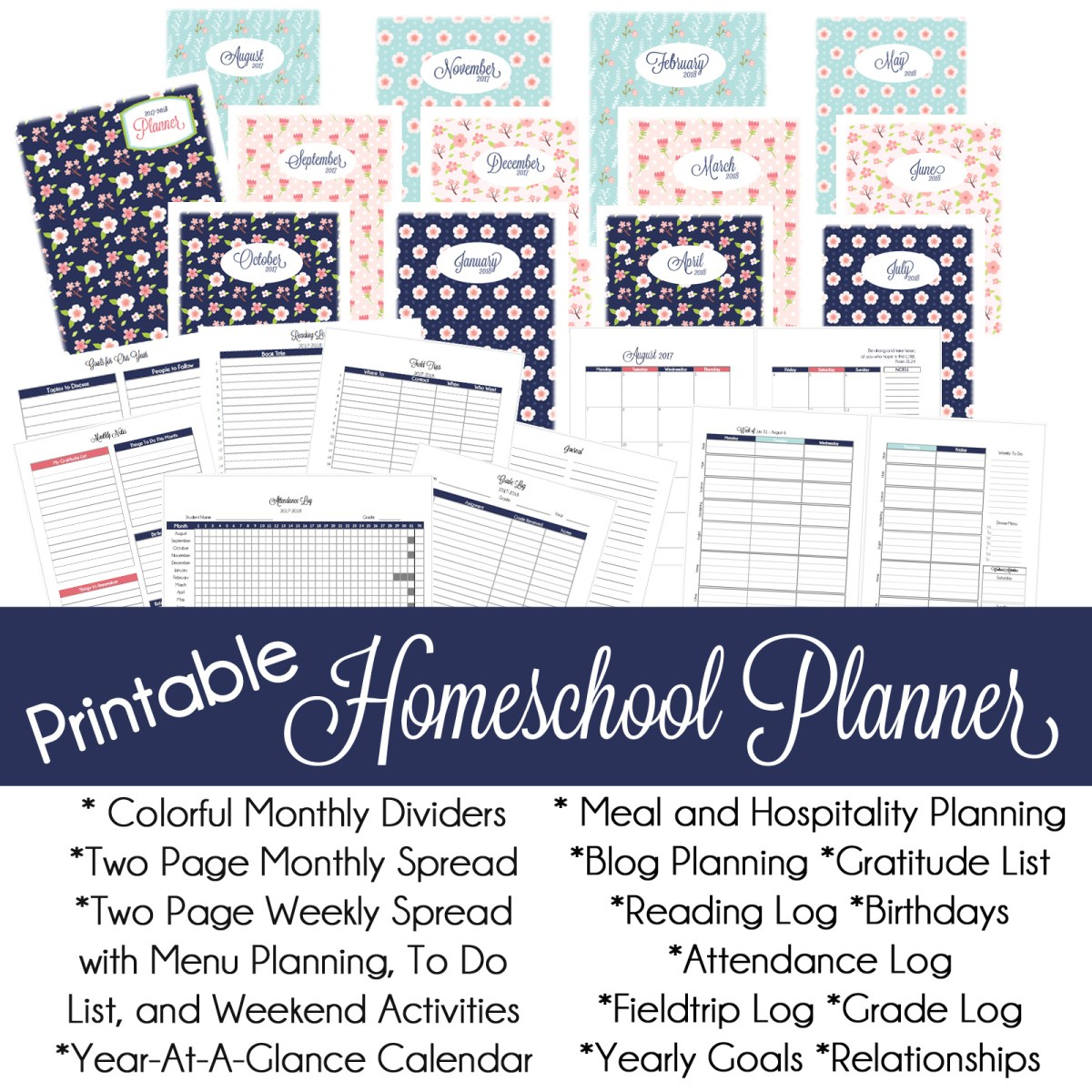Homeschool Planner 2017-2018