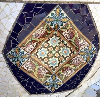Barcelona JN Park Guell mosaics 2