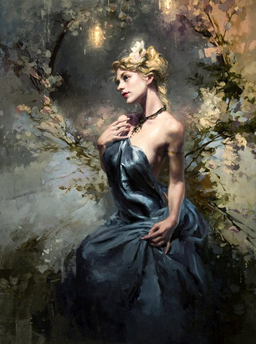 Effloresce oil painting by Jeremy Mann