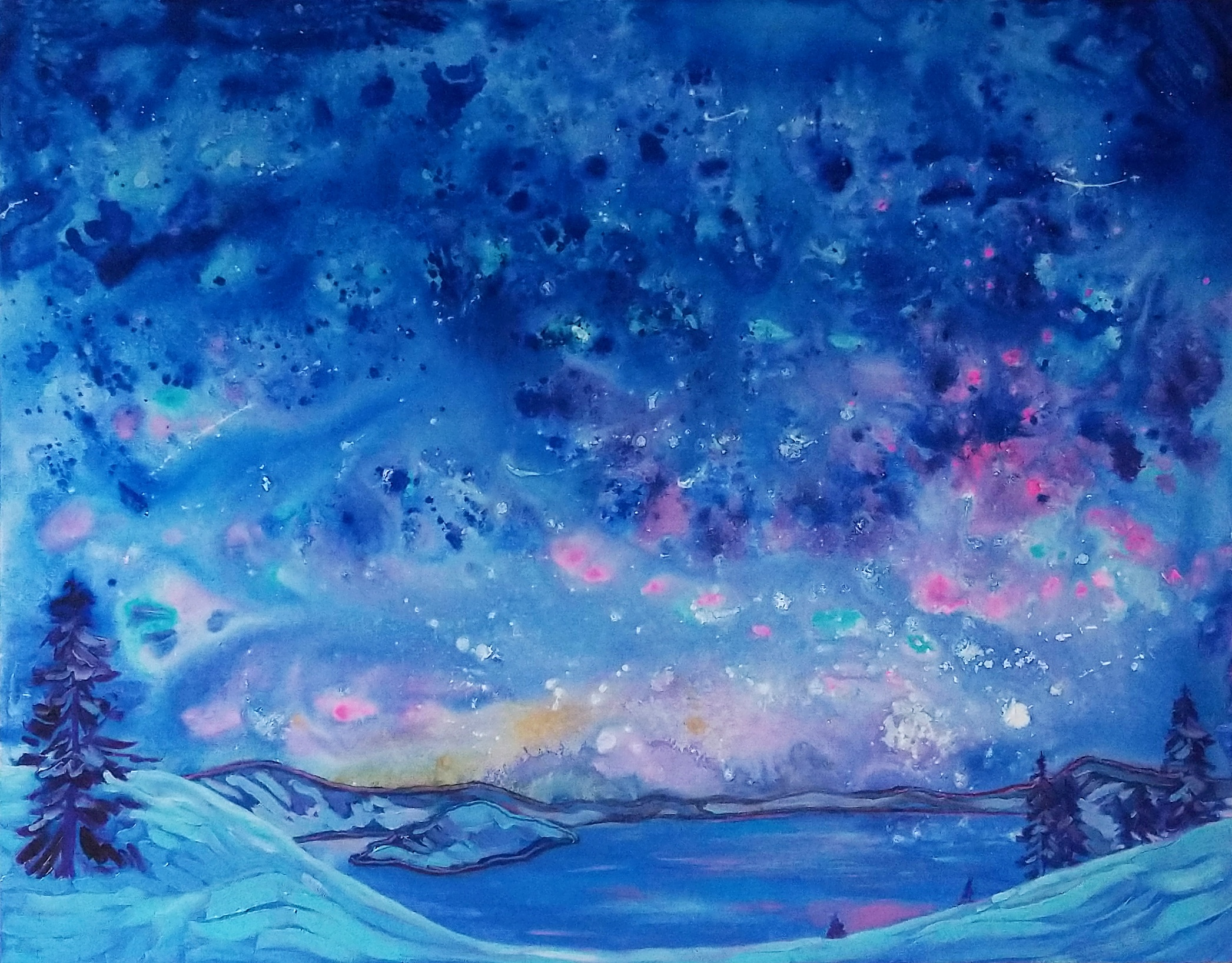 Cosmic Lake painting